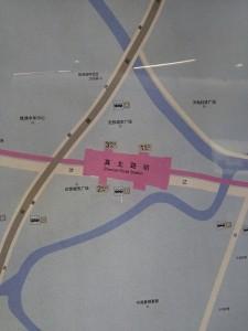 真北路駅周辺図
