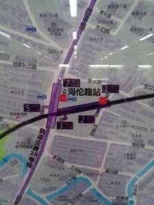 海倫路駅周辺図