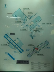 四平路駅構内図