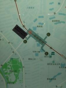 楓橋路駅周辺図(出入り口)