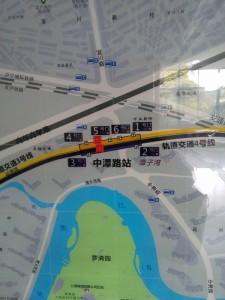 中潭路駅周辺図(出入り口)