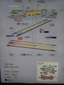 東方体育中心駅構内図