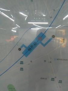 楊思駅周辺図(出入り口)