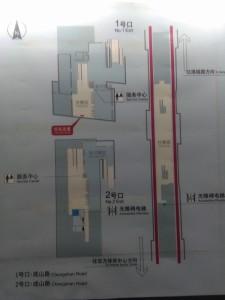 東明路駅構内図