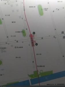 東明路駅周辺図(出入り口)