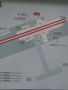 華夏西路駅構内図