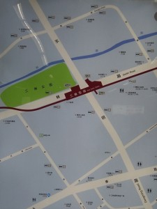 三林東駅周辺図(出入り口)