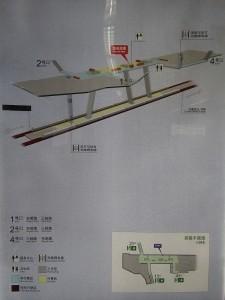 三林東駅構内図
