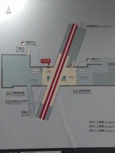 上南路駅構内図