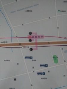 霊岩南路駅周辺図(出入り口)
