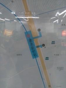 凌兆新村駅周辺図(出入り口)