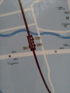 秀沿路駅周辺図(出入り口)