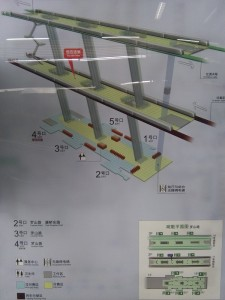 羅山路駅構内図