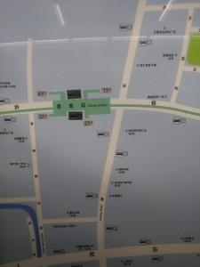 恵南駅周辺図(出入り口)