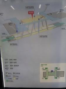 恵南駅構内図