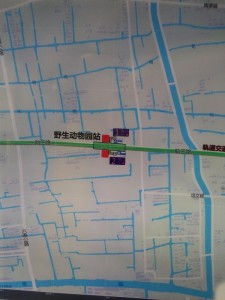 野生動物園駅周辺図(出入り口)