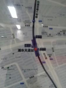 浦東大道駅周辺図(出入り口)