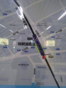 楊樹浦路駅周辺図(出入り口)