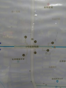 曲陽路駅周辺図(出入り口)