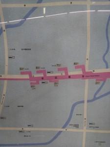 金運路駅周辺図(出入り口)