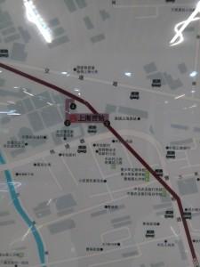 上海西站駅周辺図(出入り口)