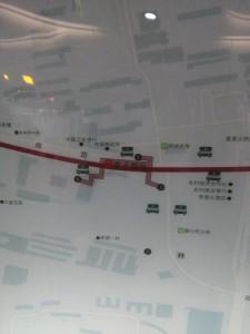 李子園駅周辺図(出入り口)