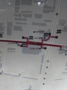 祁連山路駅周辺図(出入り口)