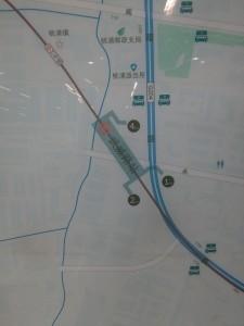 武威路駅周辺図(出入り口)