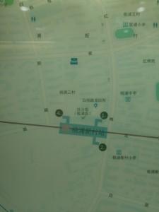 桃浦新村駅周辺図(出入り口)