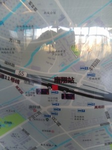 南翔駅周辺図(出入り口)