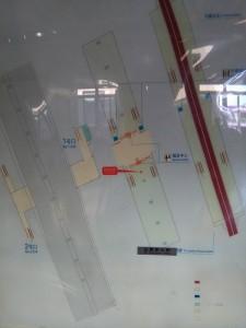 白銀路駅構内図