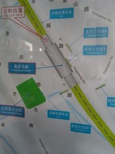 嘉定北駅周辺図(出入り口)
