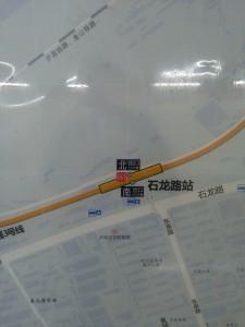 石龍路駅周辺図(出入り口)