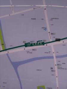 虹漕路駅周辺図(出入り口)