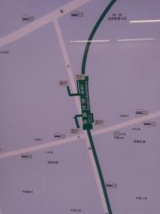 東蘭路駅周辺図(出入り口)