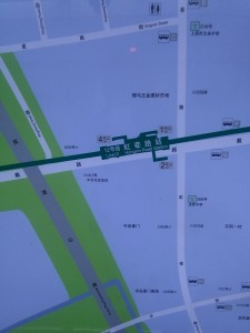 虹莘路駅周辺図(出入り口)