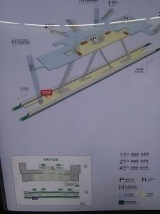 虹莘路駅構内図