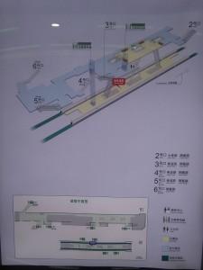 七莘路駅構内図