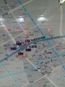 七宝駅周辺図(出入り口)