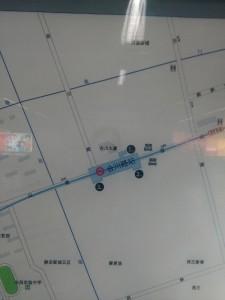合川路駅周辺図(出入り口)