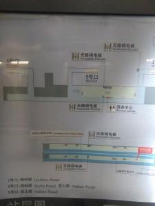 桂林路駅構内図