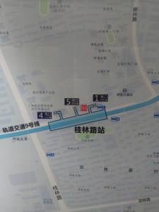 桂林路駅周辺図(出入り口)