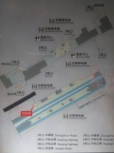中春路駅構内図