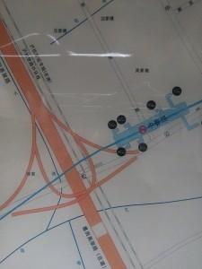 中春路駅周辺図(出入り口)