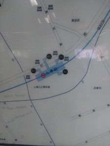 九亭駅周辺図(出入り口)
