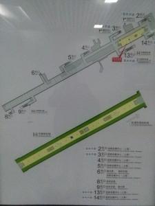 徐涇東駅構内図