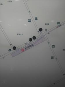 航中路駅周辺図(出入り口)
