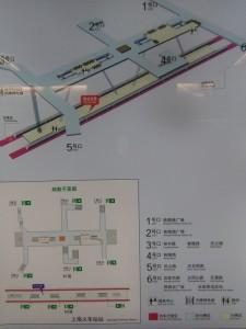 上海火車站駅構内図