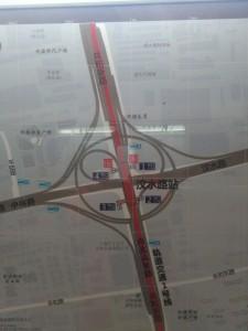 汶水路駅周辺図(出入り口)