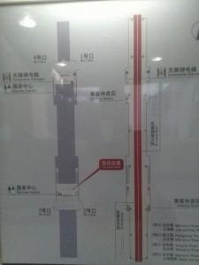 汶水路駅構内図